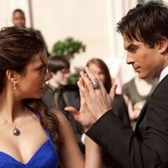 Damon and Elena, intimacy dance.