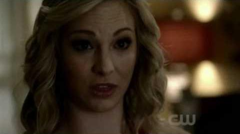 Caroline gives her blood to Matt she tells him she's a vampire 2x16