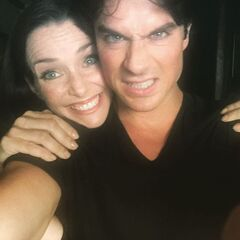 Annie Wersching, Ian Somerhalder October 8, 2015