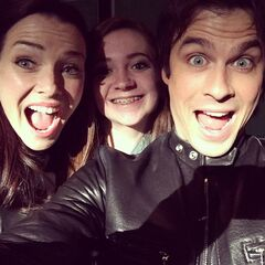 Annie with Ian bts