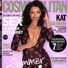 Cosmopolitan — Aug 2014, Romania, Kat Graham