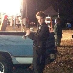 First look at Nathaniel Buzolic (as Kol) On Set