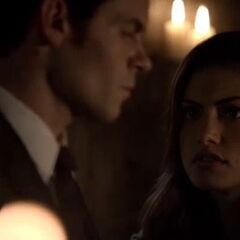 Hayley and Elijah in the Cemetery