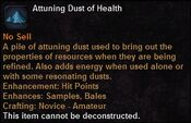 Attuning dust health