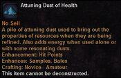 Attuning dust health