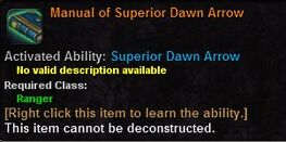 Manual of superior dawn arrow