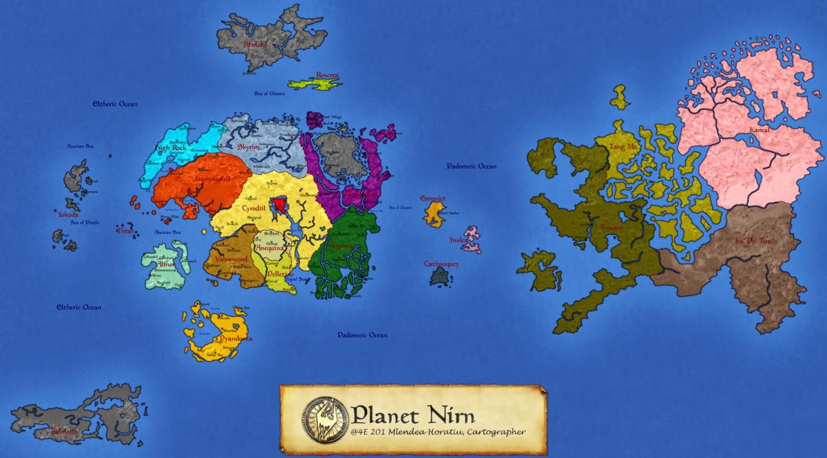 Nirn Globe Project What Does Nirn Look Like Elderscrolls