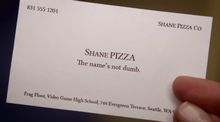 Shane pizza business card