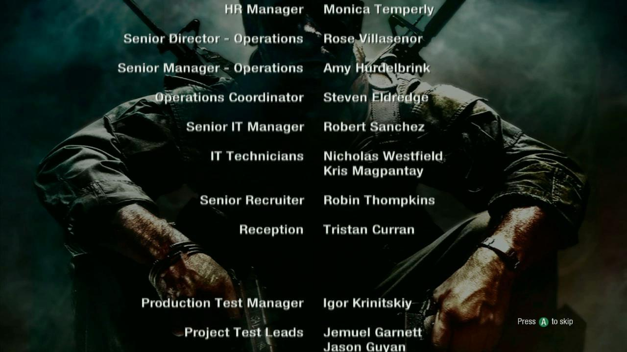 Call of Duty Black Ops - Veteran Walkthrough - Credits