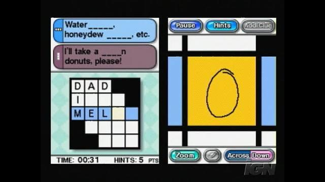 Crosswords DS Nintendo DS Gameplay - Watch this