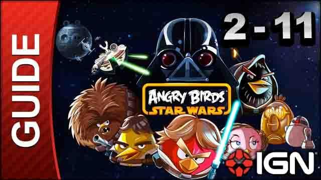 Angry Birds Star Wars Death Star Level 2-11 3 Star Walkthrough