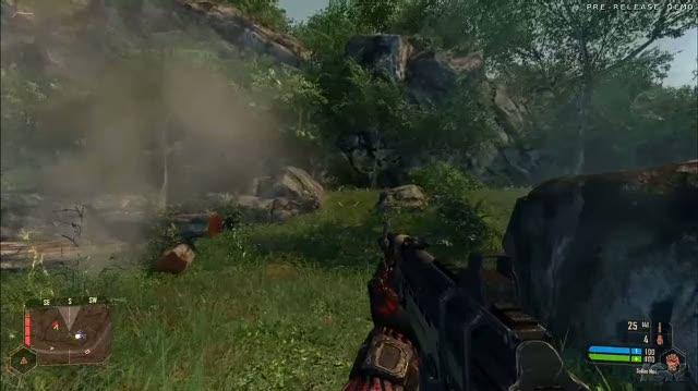 Crysis Warhead PC Games Gameplay - E3 2008 Grenade Lobbing