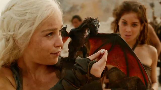 Game of Thrones Clip - Daenerys and the Dragon