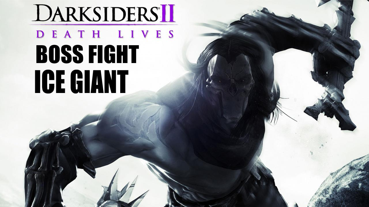 Darksiders II - Mini Boss Fight Ice Giant - Gameplay
