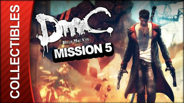 DmC Devil May Cry Mission 5 Virility Collectible Locations - All Keys Doors and Lost Souls