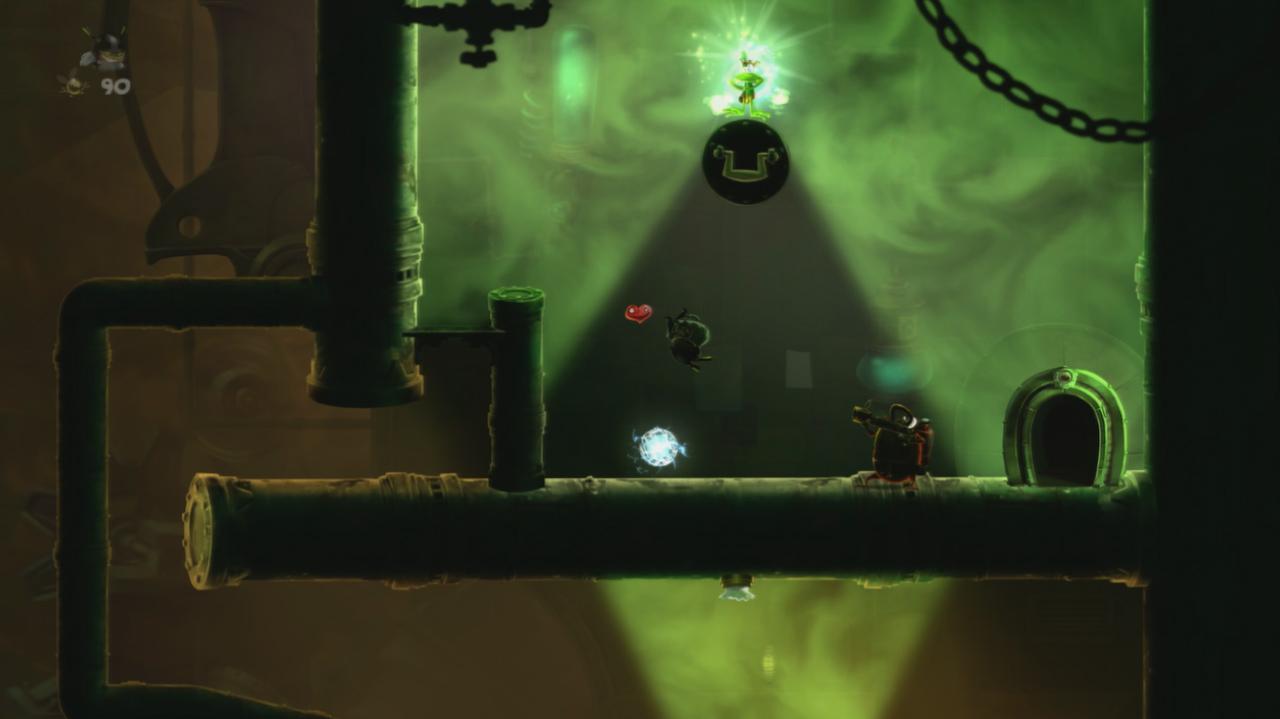 Rayman Legends Walkthrough 20,000 Lums Under the Sea - Infiltration Station