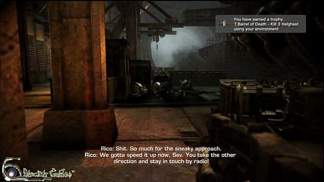 Killzone 2 PlayStation 3 Guide-Achievement Trophy - Walkthrough Barrel of Death Trophy