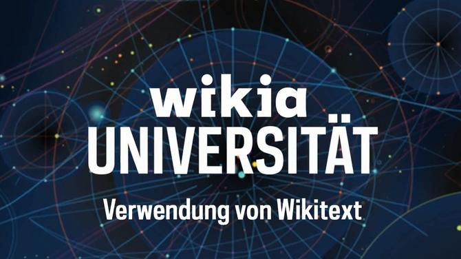 Wikia-Universität - Verwendung von Wikitext