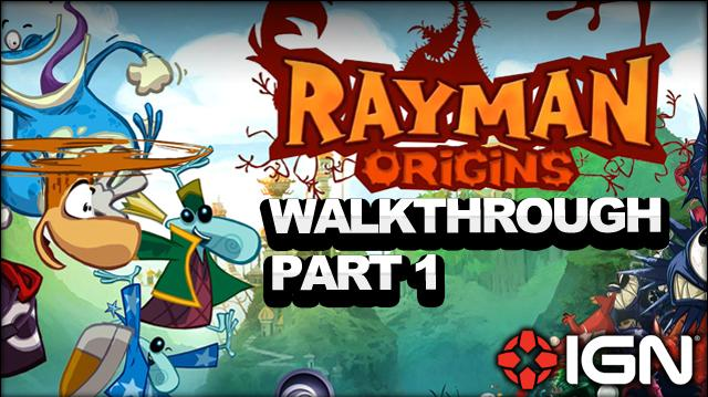 Rayman Origins Walkthrough - Jibberish Jungle It's a Jungle Out There (Part 1)