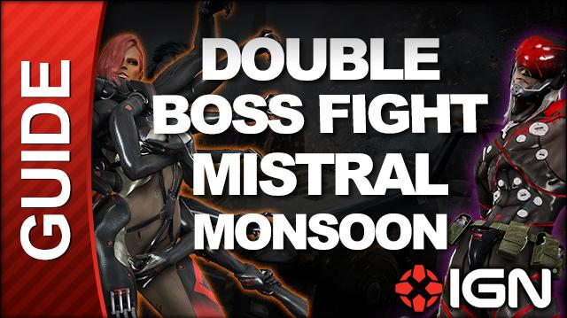 Metal Gear Rising Revengeance - Mistral Monsoon Double Boss Fight, S Ranking