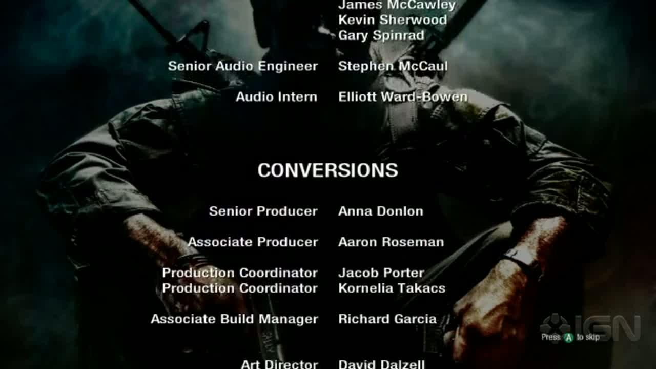 Call of Duty Black Ops - Credits & Zombie Mode Cinematic