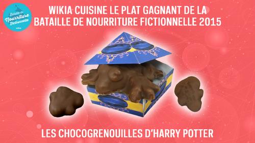 Bataille de nourriture fictionnelle 2015 - les Chocogrenouilles d'Harry Potter