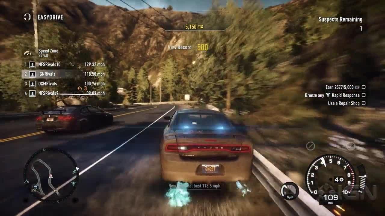 Need for Speed Rivals - Cop Pursuit Gameplay (Xbox One)