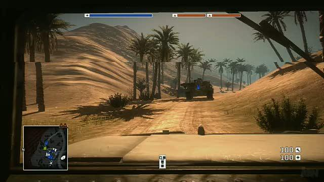 Battlefield Bad Company Xbox 360 Gameplay - Oasis' Vehicles