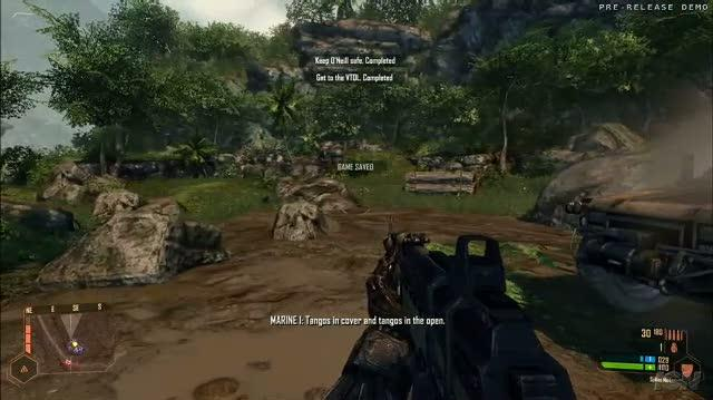 Crysis Warhead PC Games Gameplay - E3 2008 Get Going