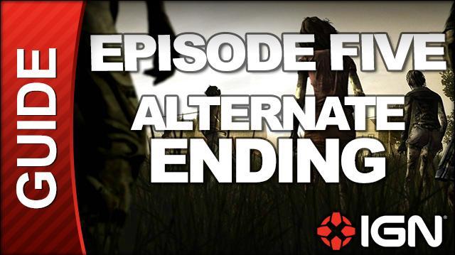 **SPOILERS** The Walking Dead Episode 5 No Time Left Walkthrough - ALTERNATE ENDING