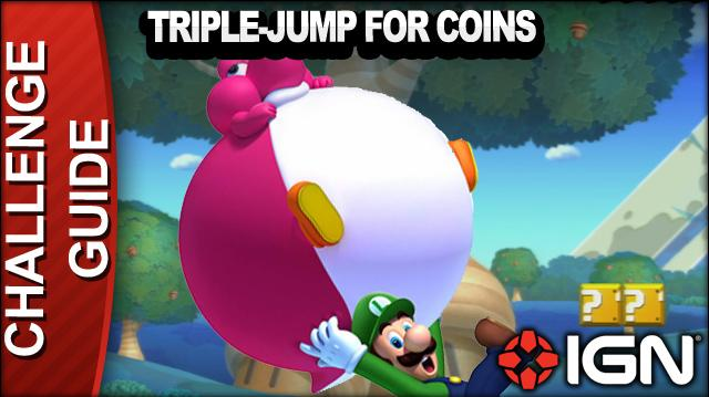 New Super Mario Bros. U Challenge Walkthrough - Triple Jump for Coins