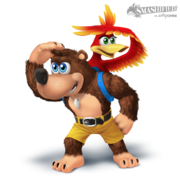 Banjo and kazooie smashified transparent by hextupleyoodot-d8pav2j