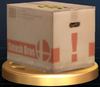 Cardboard Box - Brawl Trophy