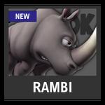 Super Smash Bros. Strife Assist box - Rambi