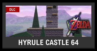 Super Smash Bros. Strife stage box - Hyrule Castle 64