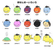 Korosensei faces
