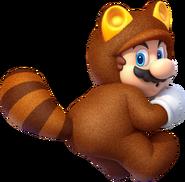 SM3DW Tanooki Mario