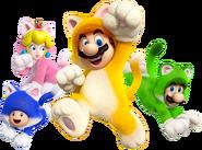 Cat Crew Group Artwork - Super Mario 3D World