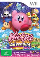 Kirby's Adventure Wii portada aus