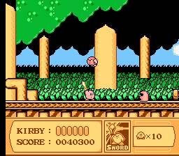 """Kirby usando la habilidad """"Sword"""""""