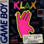 Klax Game Boy portada usa