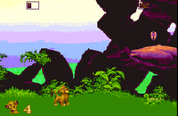 The Lion King Amiga captura nivel