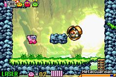 Kirby en el salón principal del Mundo de los Espejos