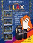 Klax Arcade folleto USA