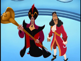 Jafar and with...Captain Hook, Without his hat (House of Villains)