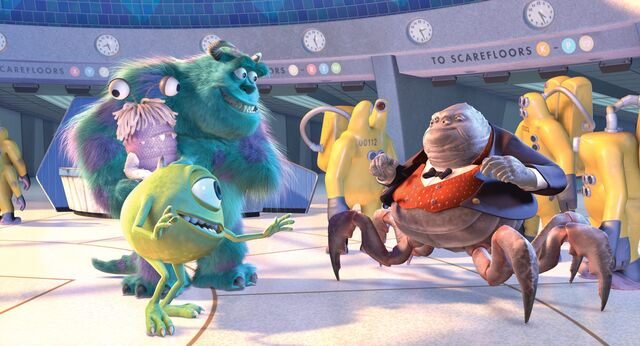 File:Mike, Sulley, Henry Waternoose, and The CDA.jpg