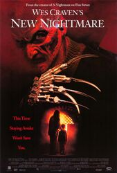 Freddy New Nightmare VHS poster