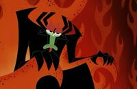 Aku in his throne