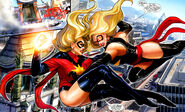 MARVEL Ms Marvel Punches Moonstone