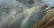 Tortoise John being overpowered by Rattlesnake Jake